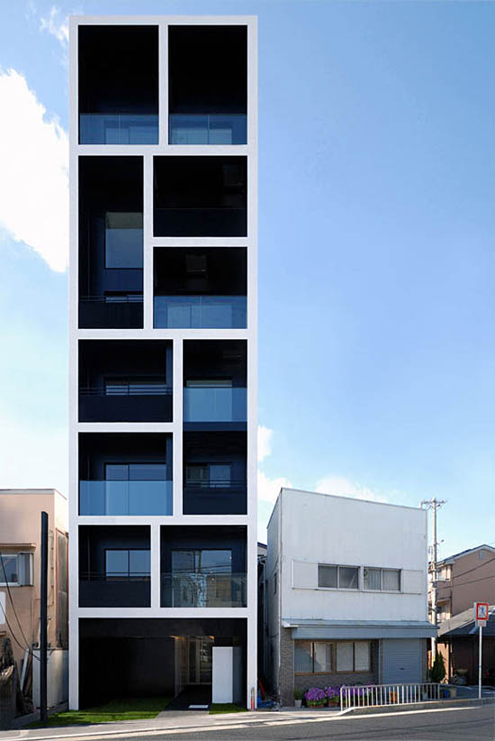Apartment building in Katayama by Mitsutomo Matsunami