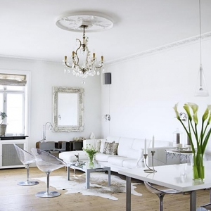 White and welcoming interior made by and for a couple