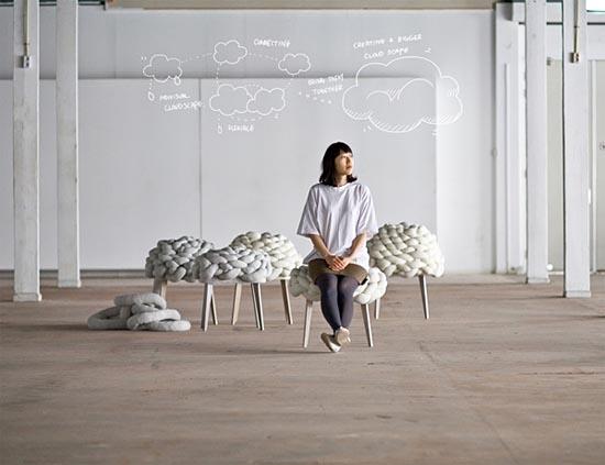 Cloud stool by Joon&Jung