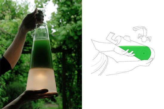The latro lamp by Mike Thompson – energy from algae