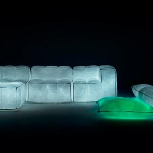 Glowing sparkles sofa - Via Lattea by Meritalia