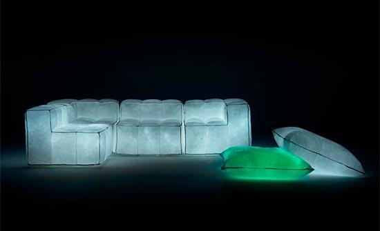 Glowing sparkles sofa – Via Lattea by Meritalia