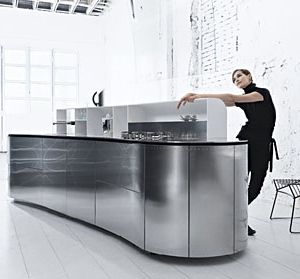 Stainless steel kitchen by LaCucinaAlessi