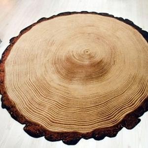 Woody Wood Rug by YLdesign