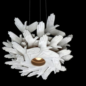 The Bird in hand lamp by Plankton