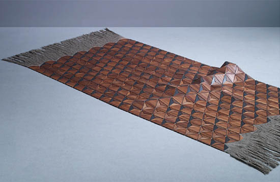 Wooden Carpet by Elisa Strozyk for Boewer