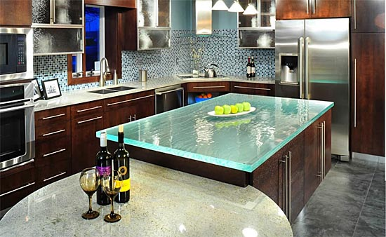 Kitchen Glass Countertops From ThinkGlass ...
