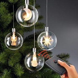 Wireless LED Christmas Tree Baubles