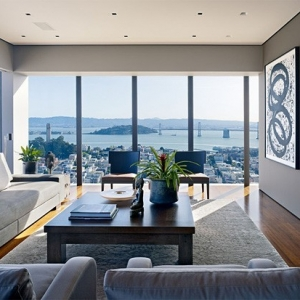 Russian Hill High-Rise apartment by Zack | de Vito