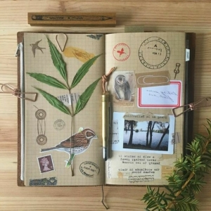 Want to make your own adventure journal? Inspirational ideas in 60 photos
