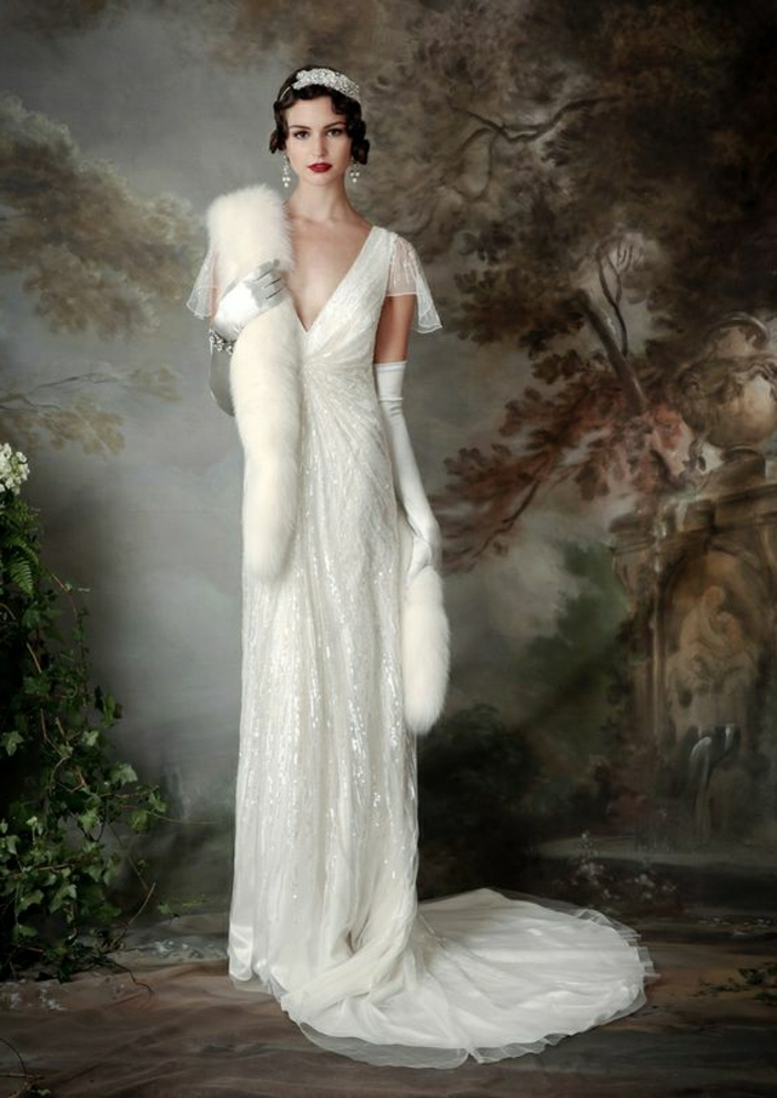 1001 ideas for vintage wedding dresses to fall in love with for Wedding dress with long gloves