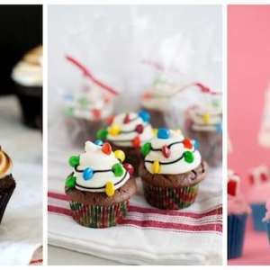 100 + Christmas Cupcakes With Recipes, Tutorials and More!