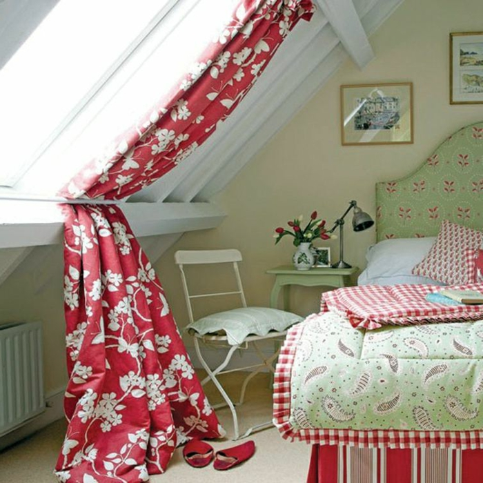 1001 ideas for gorgeous attic room curtain ideas. Black Bedroom Furniture Sets. Home Design Ideas