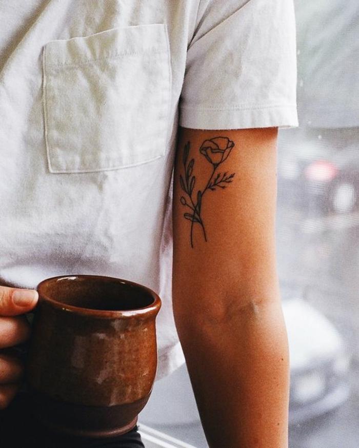 Inner Upper Arm Tattoo: 1001 + Ideas For Beautiful Flower Tattoos And Their Secret