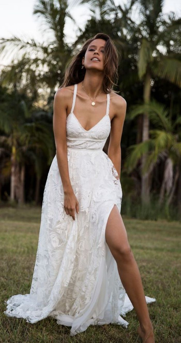 1001 ideas for the boho beach wedding of your dreams for Wedding dresses palm beach