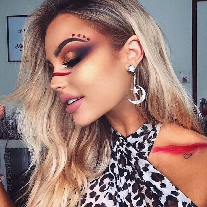 38ab0c58865b 1001 Ideas For Beautiful Unique And Eye Catching Festival Makeup How To  Create An Animal Print