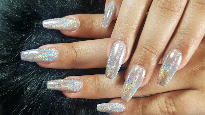 100 Styles For Coffin Shaped Nails To Rock This Summer