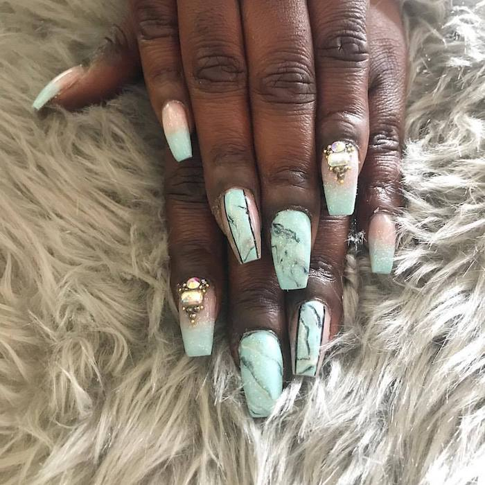 1001 Ideas For Coffin Shaped Nails To Rock This Summer
