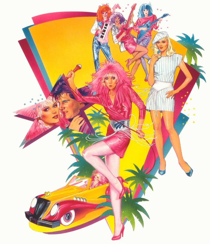 jem and the hollograms, a cartoon from the 80s, colorful illustration featuring the main characters, 80s costume ideas, inspired by childhood favorites