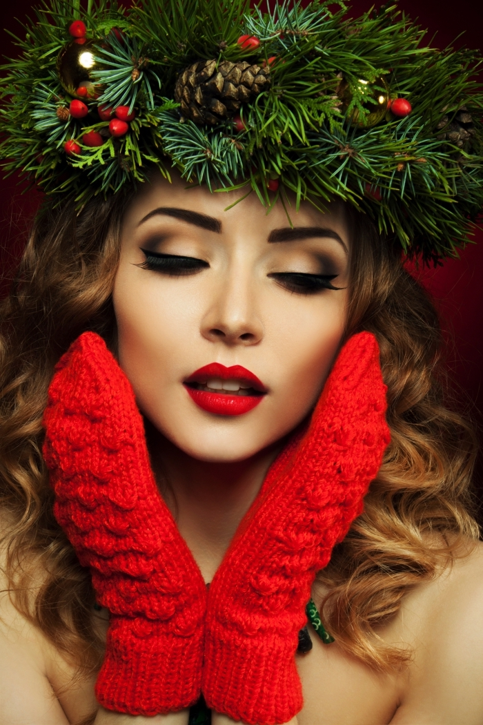 1001 Ideas For Christmas Makeup With Red Lipstick