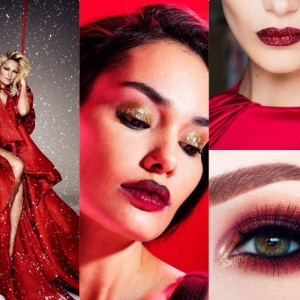 Christmas Makeup With Red Lipstick for Festive Season 2017