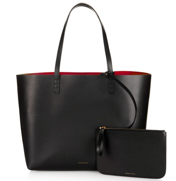 tote bag and purse, made from black leather, what is a capsule wardrobe, essential accessories for women