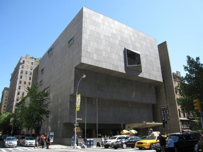 whitney museum of american art, in new york city, terraced building covered in grey tiles, with several asymmetrical windows