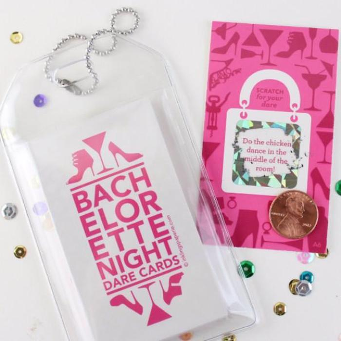 bachelorette night dare cards, scratch off cards, what is a bachelorette party, fun game
