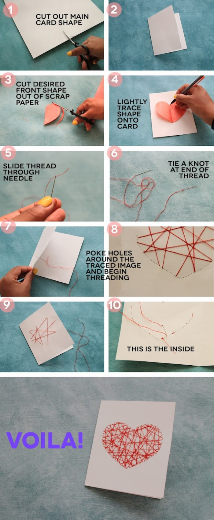 handmade paper card, hand-sewn heart, gift basket ideas for boyfriend