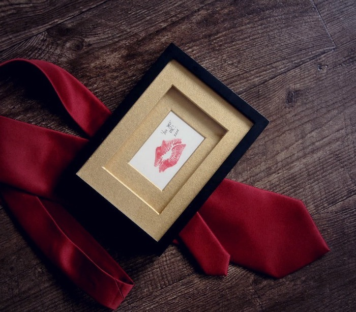 black picture frame, you get me special message, red tie, thoughtful gifts for boyfriend