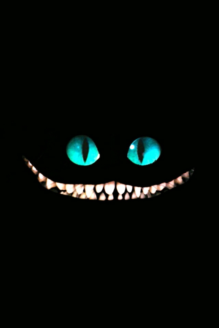 cheshire cat, cool iphone backgrounds, alice in wonderland character, blue eyes, large smile