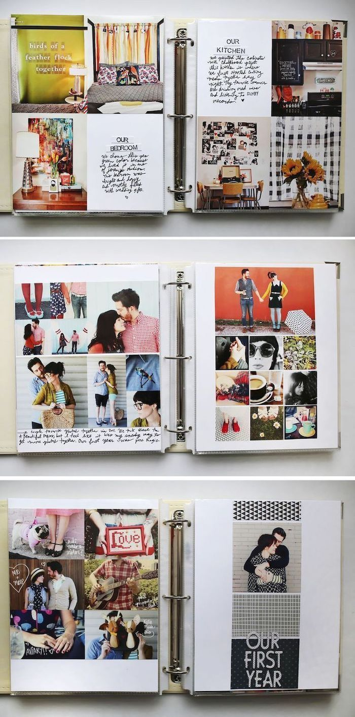 couples scrapbook, special messages and pictures, thoughtful gifts for boyfriend