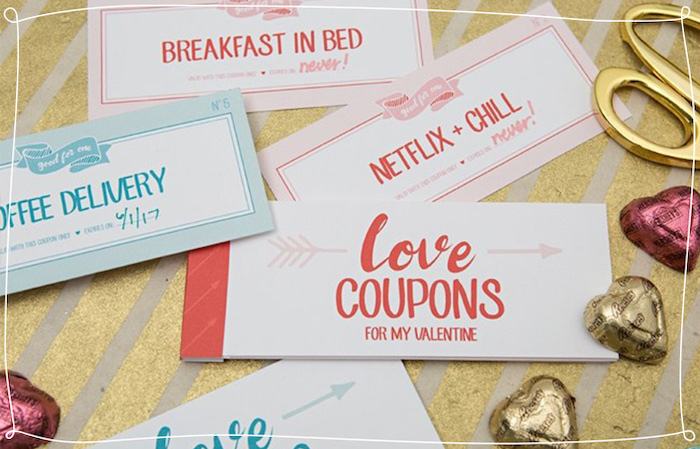 love coupons for my valentine, special messages, heart shaped candy, thoughtful gifts for boyfriend