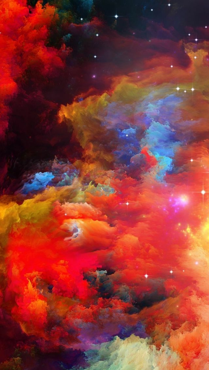colourful clouds, nature iphone wallpaper, lots of stars, red clouds