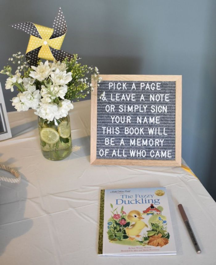 the fuzzy duckling book, unique baby shower themes, white flower bouquet in a vase