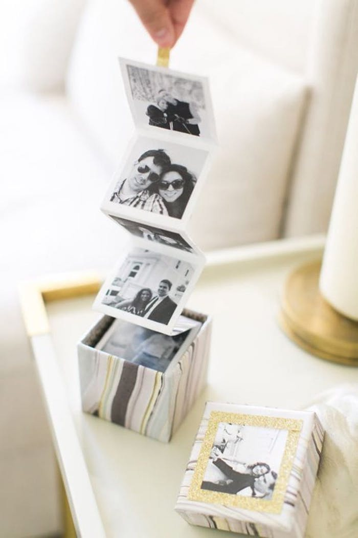 photos coming out of a box, printed cardboard box, valentine's day gifts for boyfriend
