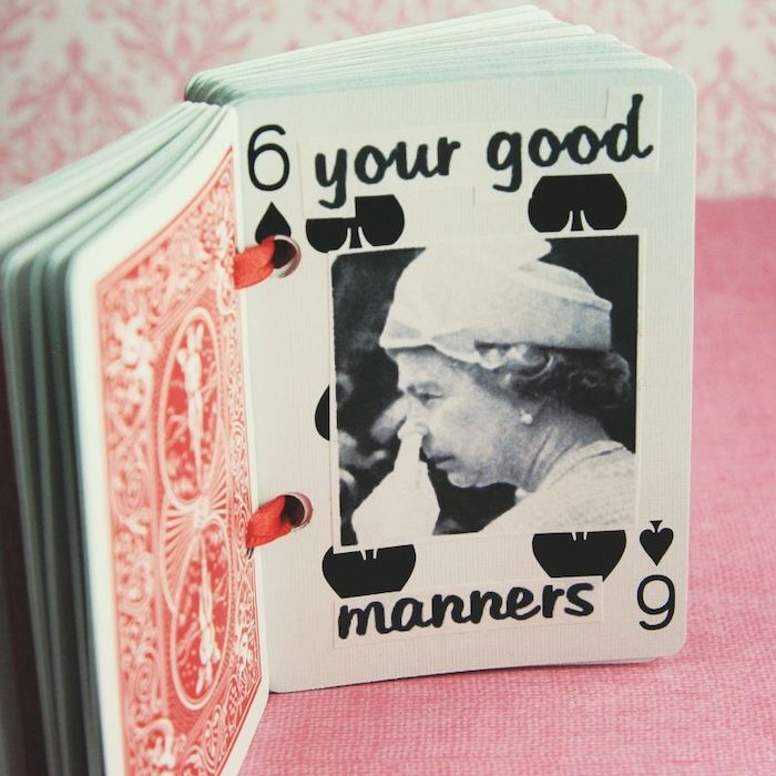 deck of cards, your good manners, six of spades, special messages, romantic gift ideas for boyfriend