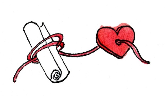 message written on a piece of paper, red heart with a thread, customised gifts for boyfriend