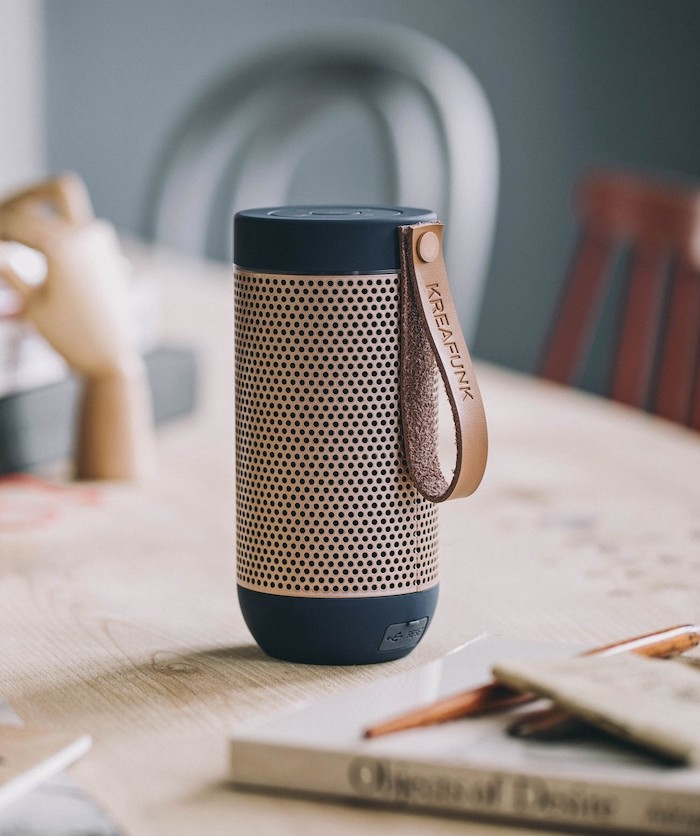 black and gold bluetooth speaker, wireless speaker, unique gifts for boyfriend