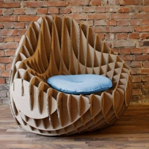 Cardboard furniture - 60 examples that you can make yourself