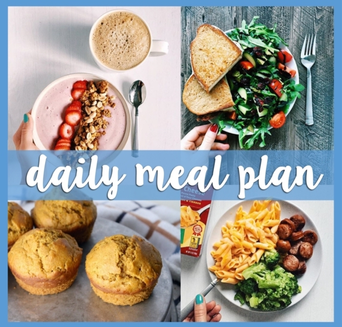 daily meal plan, what to eat during the day, balanced meal, different pictures of meals
