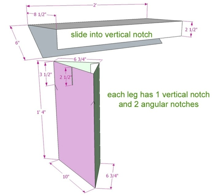 how to make a cardboard table, cardboard furniture, step by step tutorial, with measurements