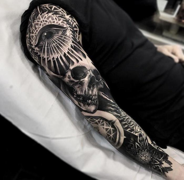 All Black Tattoo Sleeve: 1001 + Examples Of Stunning Tattoos For Men With Meaning