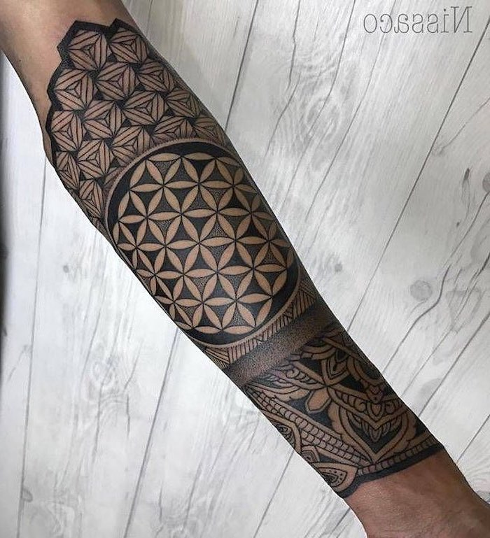 wooden background, black and white, forearm tattoo, wrist tattoos for men