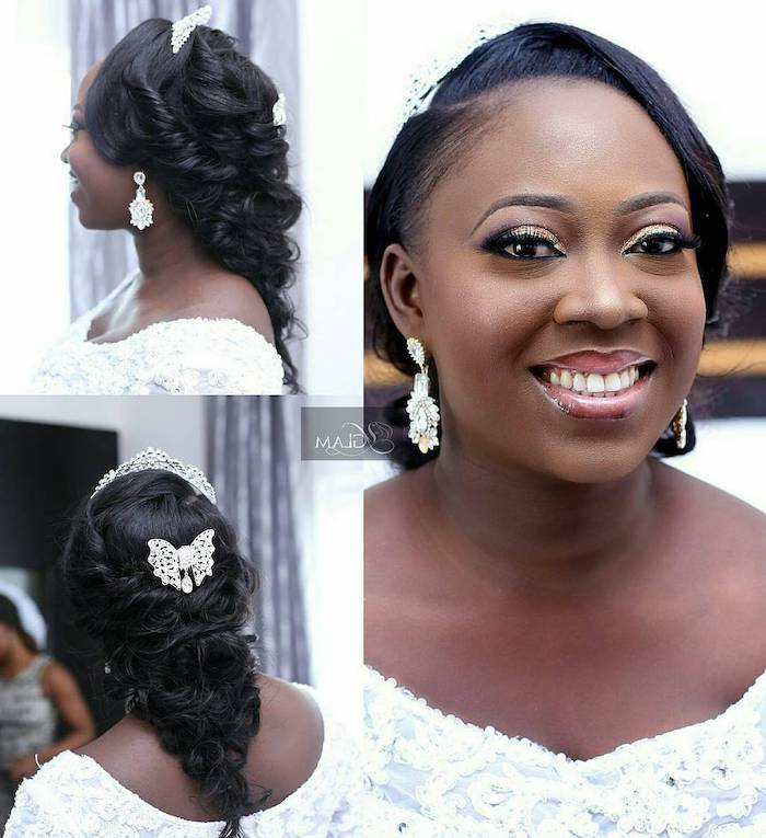 photos from every angle, braided ponytail, tiara and vutterfly hair accessories, easy hairstyles to do yourself