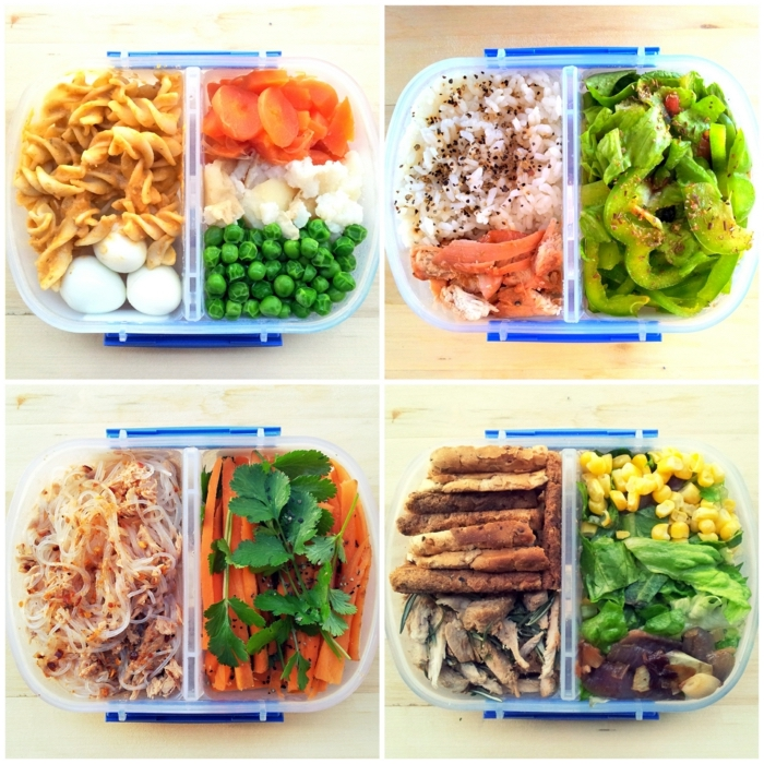 different meals for each day, meal prep, nutrition plan, lunch boxes, full of vegetables and meat