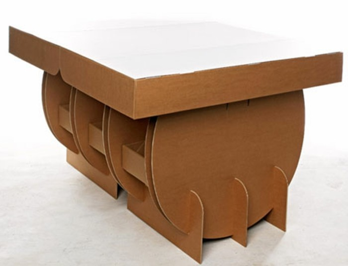 white background, how to make a cardboard chair, intricate design, cardboard table, painted in white