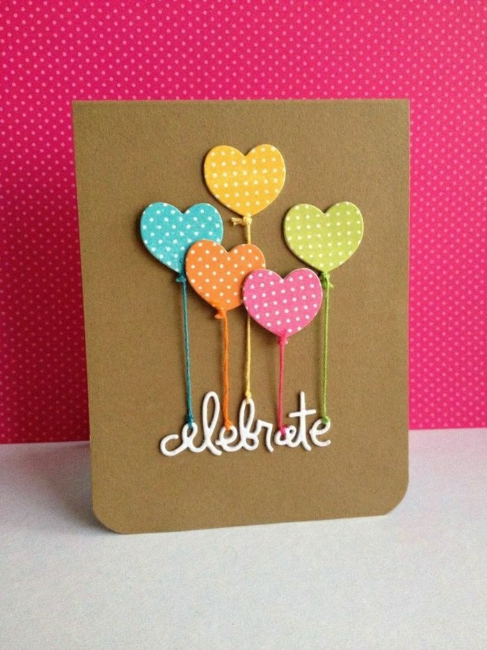 pink background, heart shaped, colourful balloons, celebrate inscription, pop up birthday cards