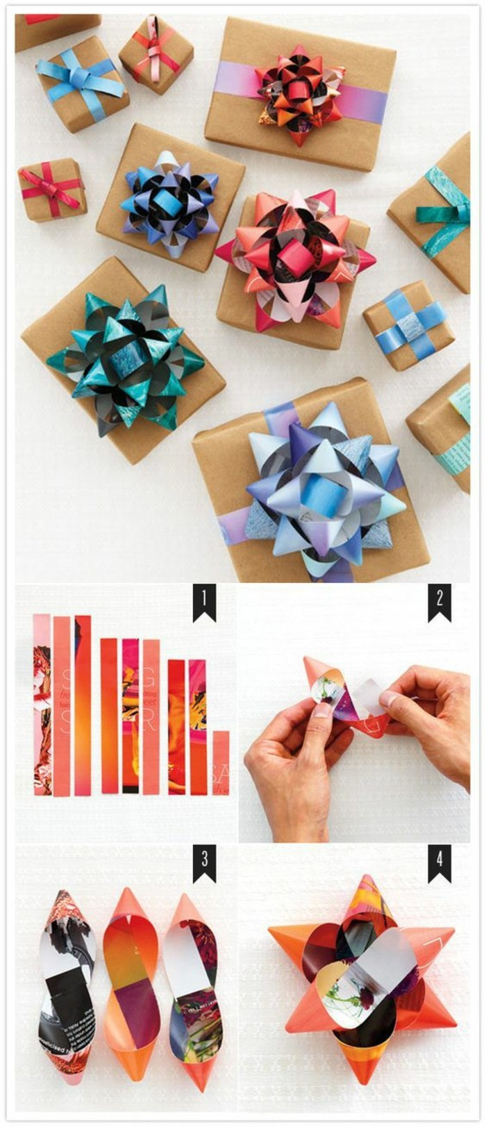 gift ribbons diy, step by step, diy tutorial, homemade gift ideas, different patterned ribbons