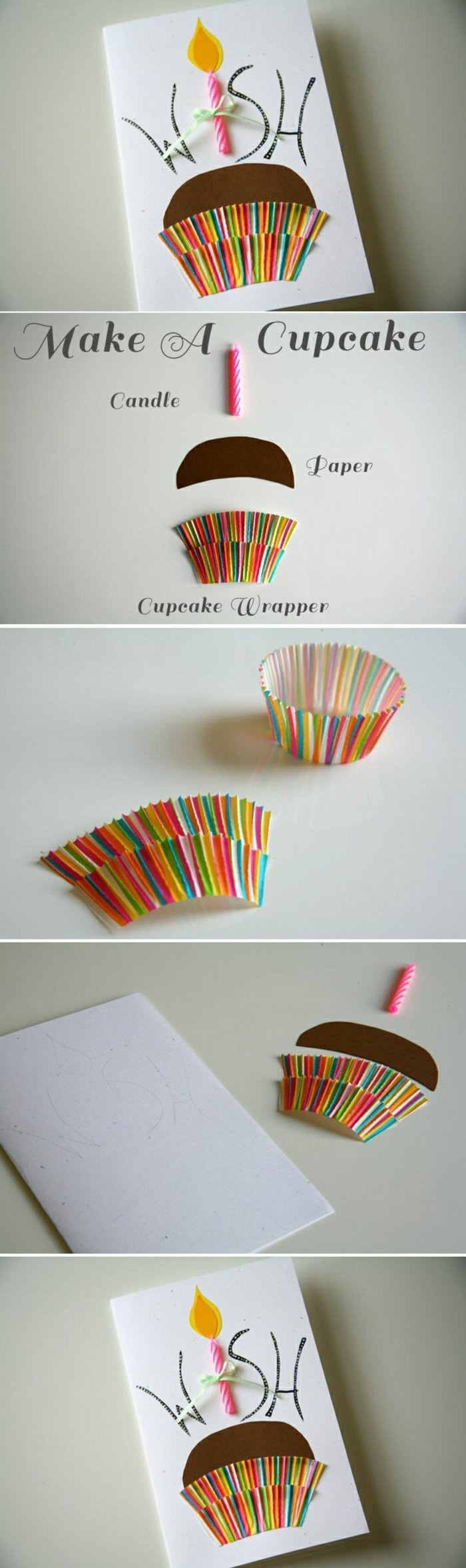 step by step, diy tutorial, cupcake greeting card, funny things to write in a birthday card, cupcake wrapper